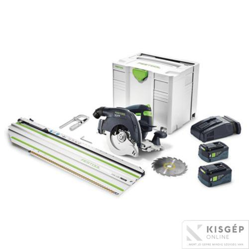Festool Akkus kézi billenőbúrás körfűrész HKC 55 Li 5,2 EBI-Set-SCA-FSK 420