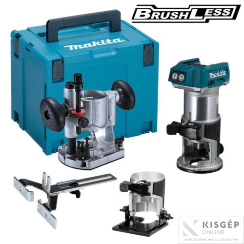 Makita DRT50ZJX2 18V LXT Li-ion BL kombinált marógép + készlet  Z